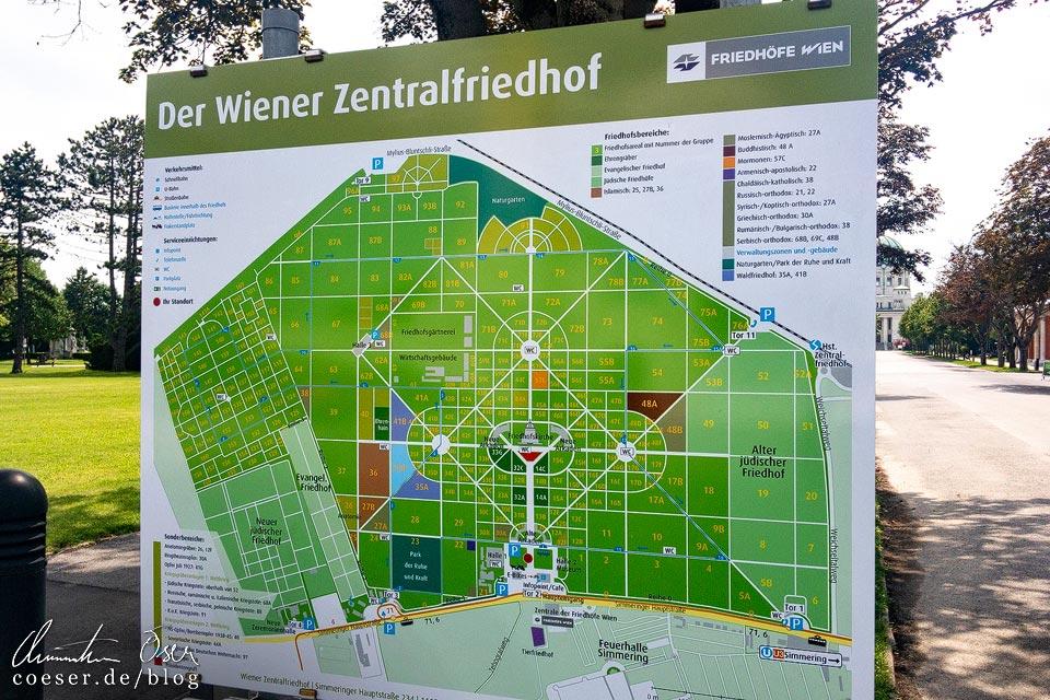 Übersichtsplan auf dem Wiener Zentralfriedhof