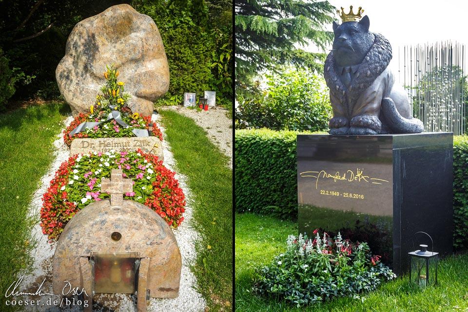 Gräber von Helmut Zilk und Manfred Deix auf dem Wiener Zentralfriedhof