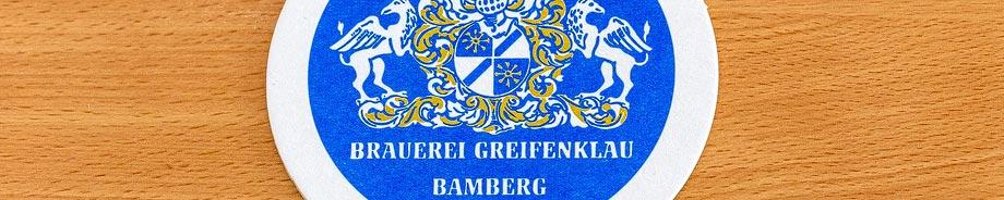 Bierdeckel der Brauerei Greifenklau in Bamberg