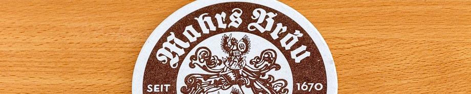 Bierdeckel der Brauerei Mahrs in Bamberg