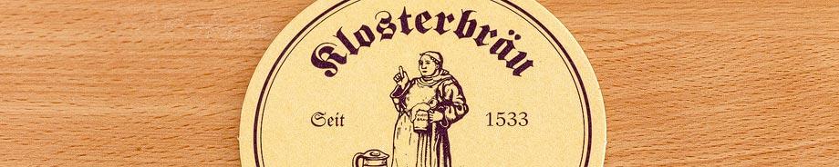 Bierdeckel der Brauerei Klosterbräu in Bamberg