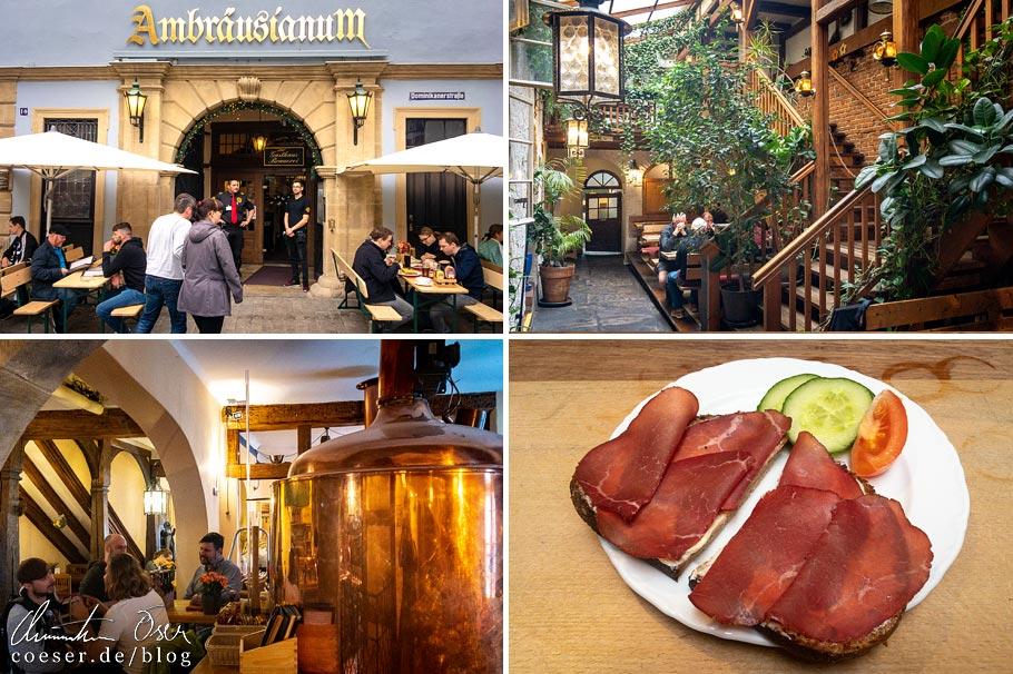 Eindrücke aus der Brauerei Ambräusianum in Bamberg