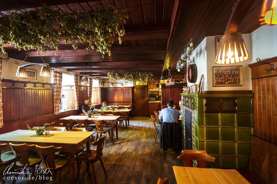 Gaststube in der Brauerei Greifenklau in Bamberg