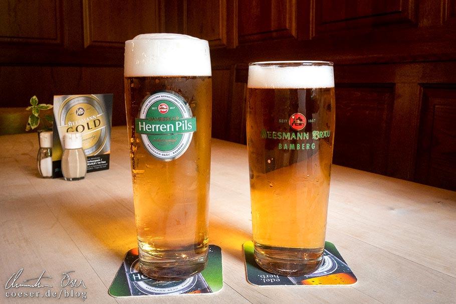 """Bamberger Herren Pils und """"Sternla"""" Lager in der Brauerei Keesmann in Bamberg"""