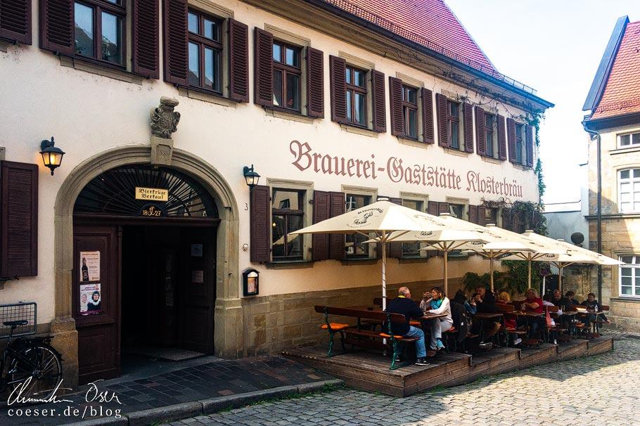 Terrasse vor dem Klosterbräu in Bamberg