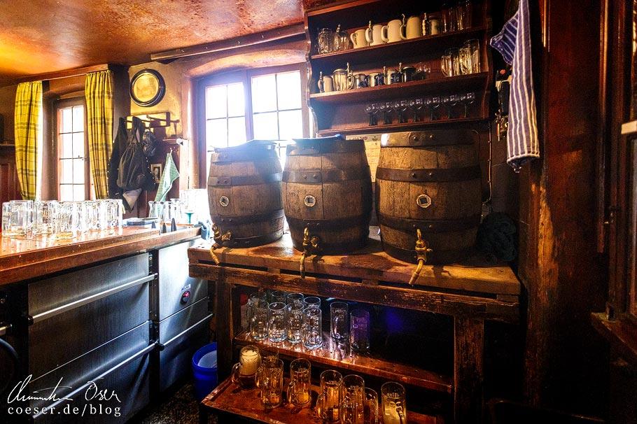 Ausschank in der Brauerei Mahrs in Bamberg