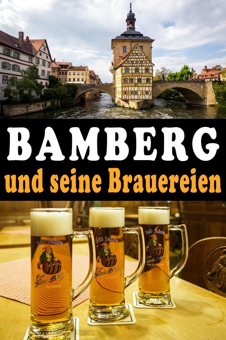 Bamberg: Details zu den neun Brauereien Schlenkerla, Ambräusianum, Mahrs, Keesmann, Greifenklau, Klosterbräu, Kaiserdom, Spezial und Fässla