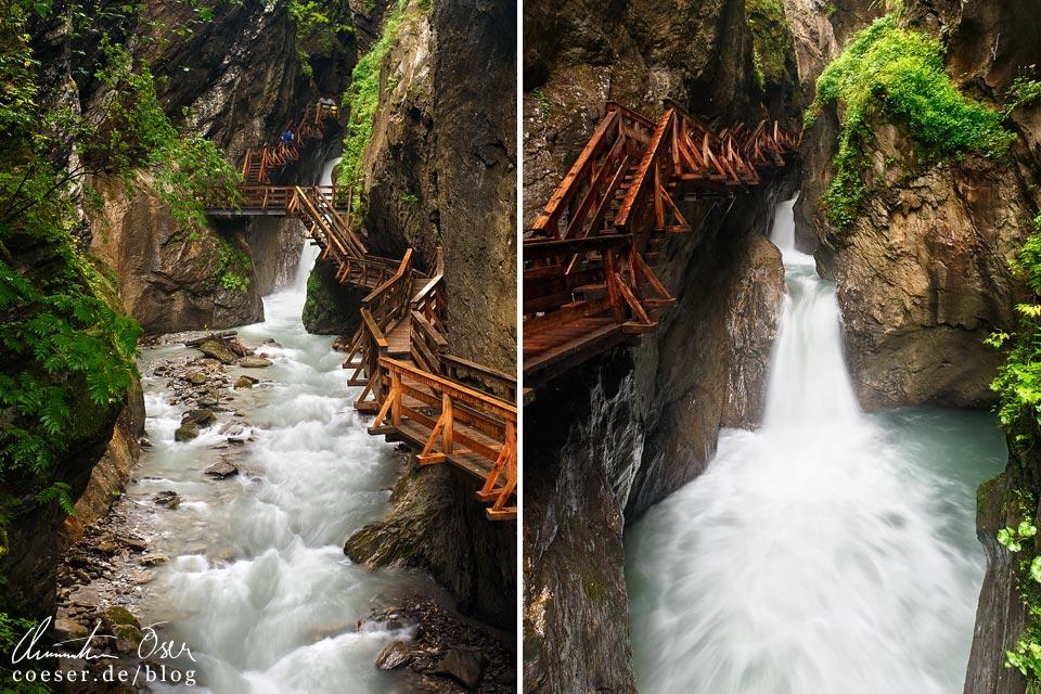 Der Weg durch die Sigmund-Thun-Klamm in Kaprun