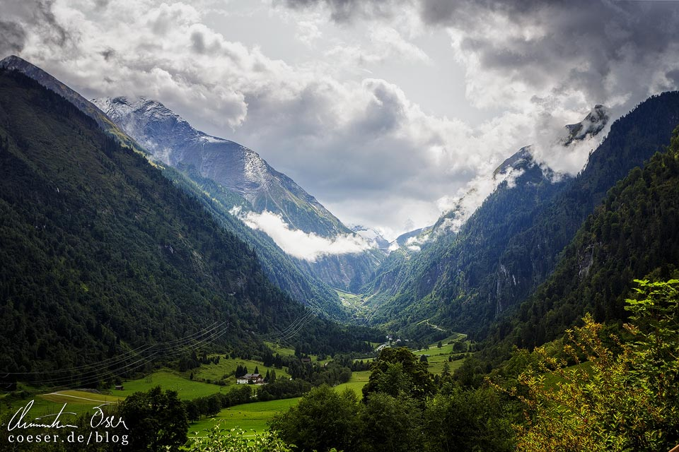 Blick in das Kapruner Tal nach der Sigmund-Thun-Klamm in Kaprun