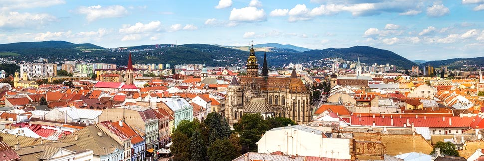 Panoramaaufnahme von Košice
