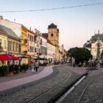 DIe Hauptstraße von Košice und das Staatstheater Kaschau