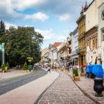 DIe Hauptstraße von Košice am südlichen Ende