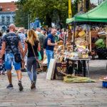 Ein Handwerkermarkt auf der Hauptstraße von Košice