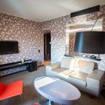 Wohnbereich in der Junior Suite im Hotel Yasmin in Košice