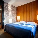 Schlafzimmer in der Junior Suite im Hotel Yasmin in Košice