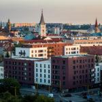 Aussicht vom Treppenhaus im Hotel Yasmin in Košice