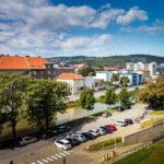 Aussicht von der Junior Suite im Hotel Yasmin in Košice