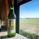 Ein Staničná-Bier im Speisewagen der slowakischen Bahn