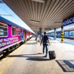 Ankunft mit der slowakischen Bahn in Košice