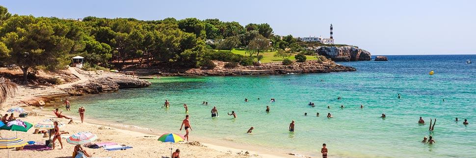 Strand von Porto Colom auf Mallorca