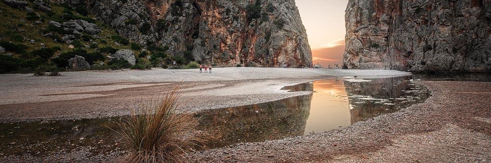 Sonnenuntergang beim Torrent de Pareis auf Mallorca