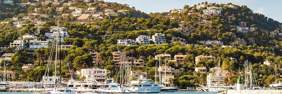 Hafen von Port d'Andratx auf Mallorca