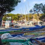 Jachten in der Bucht Cala Figuera auf Mallorca