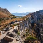 Blick auf den Weg zum Aussichtspunkt Mirador Es Colomer beim Cap de Formentor