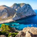 Blick in eine Bucht auf dem Weg zum Cap de Formentor