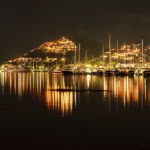 Der beleuchtete Ort Port d'Andratx