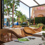 Frühstücksterrasse im Mon Port Hotel & Spa in Port d'Andratx auf Mallorca