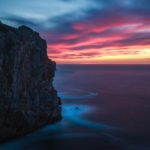 Sonnenuntergang an der Küste in Port de Sóller