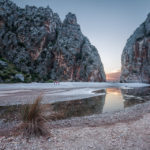 Die Mündung der Felsenschlucht Torrent de Pareis