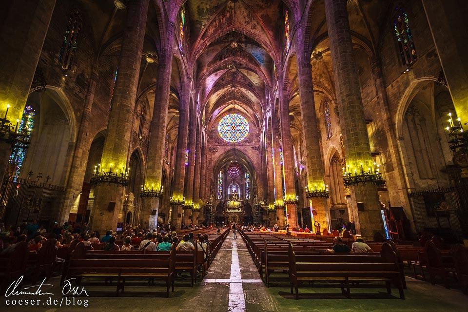 Innenansicht der Kathedrale von Palma de Mallorca