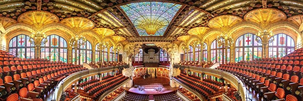 Großer Saal im Palau De La Música in Barcelona