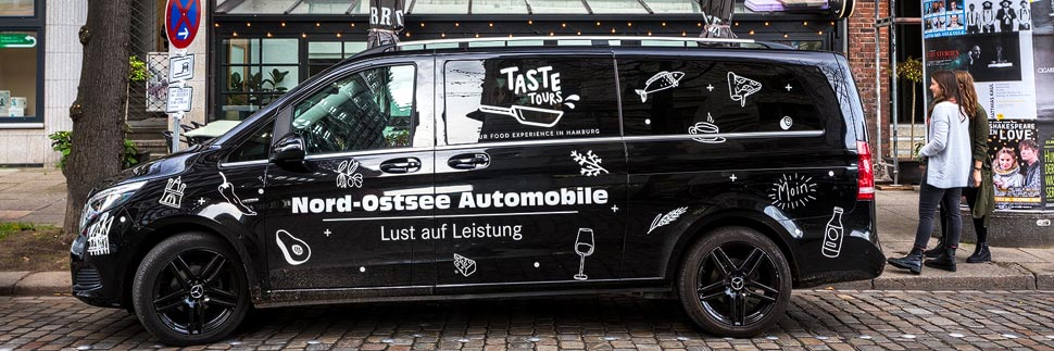 Mercedes V-Klasse der Taste Tours in Hamburg