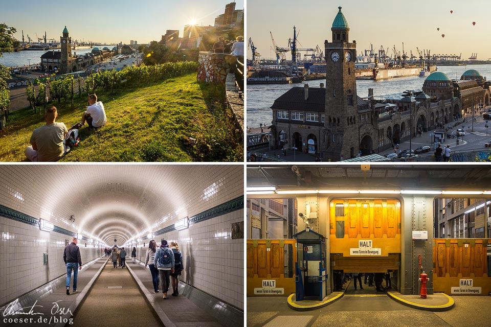 Landungsbrücken und Alter Elbtunnel in Hamburg