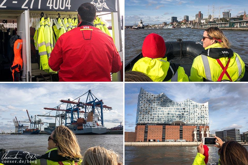 Eindrücke von der Speedboot-Tour mit den RIB Piraten im Hamburger Hafen