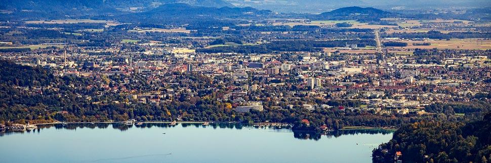 Blick vom Pyramidenkogel auf Klagenfurt am Wörthersee