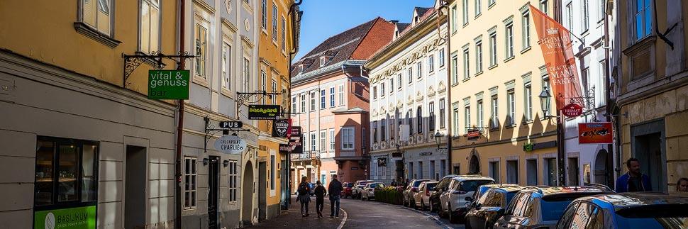 Herrengasse in der Altstadt von Klagenfurt