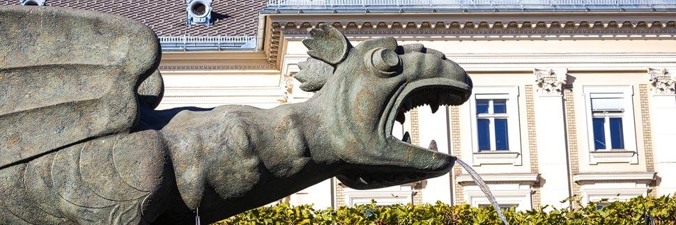 Der Lindwurm, das Wahrzeichen von Klagenfurt