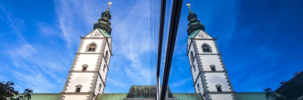Spiegelung des Klagenfurter Doms