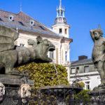 Der Lindwurmbrunnen und die Herkules-Statue, Wahrzeichen von Klagenfurt