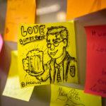 Eine der zahlreichen Fanzeichnungen im PHOENIX Cafe