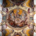 Deckenmalerei in der Stadtpfarrkirche von Klagenfurt