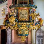 Die Kanzel in der Stadtpfarrkirche von Klagenfurt