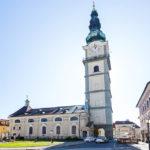 Außenansicht der Stadtpfarrkirche von Klagenfurt