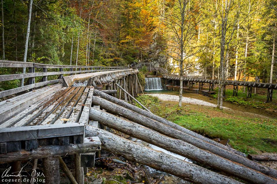 Schautriften (Holztrift) in der Erlebniswelt Mendlingtal