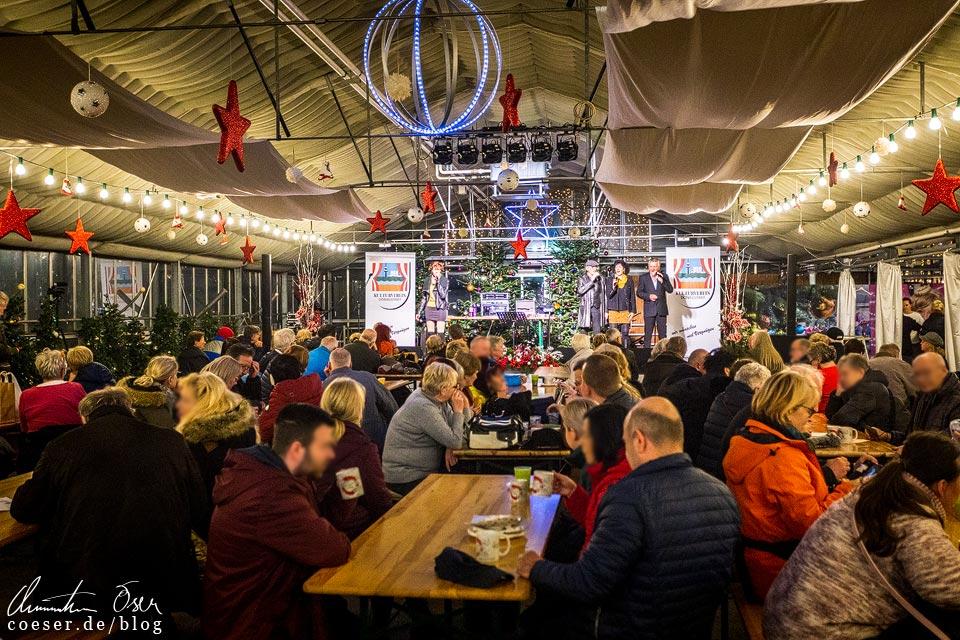 Weihnachtsmarkt in den Blumengärten Hirschstetten in Wien