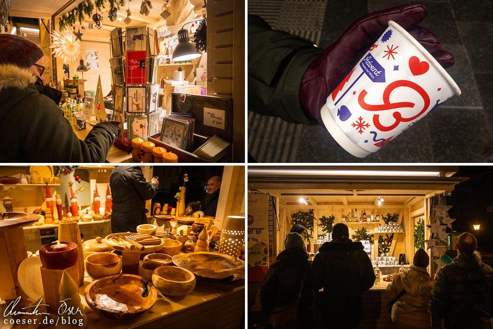 Produkte auf dem Weihnachtsmarkt im Kurpark beim Advent in Baden bei Wien